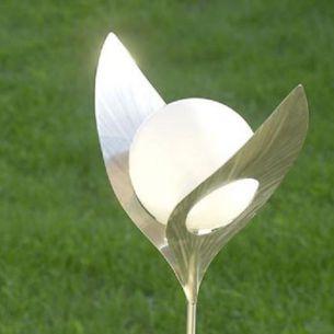 LED-Solar Messing warm-weißes Licht Messing, messingfarbig, LED warmweiß