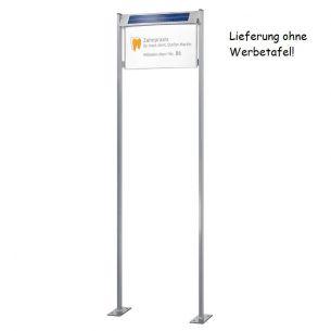 Gestell für Solar-Infotafeln in L - mit Bodenplatte 55,50 cm