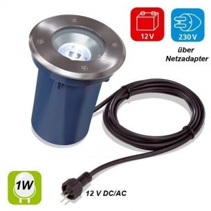 LED  Power Einbaustrahler mit    1W oder 3W LED  -  30°oder 45° Lichtaustrittswinkel