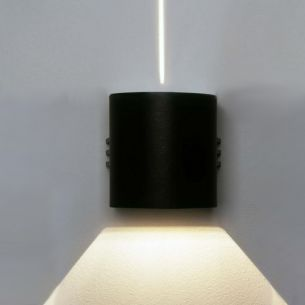 LED Wandstrahler aus Aluguss in schwarz, weiß oder silber, Lichtaustritt eng/breit