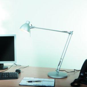 Schreibtischleuchte in  silber oder schwarz - Klassiker mit moderner Technik