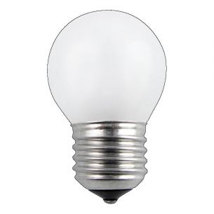 Glühlampe Leuchtmittel D45 Tropfen 60 Watt opal weiß  E27 stoßfest 1x 60 Watt, 60 Watt, 360,0 Lumen