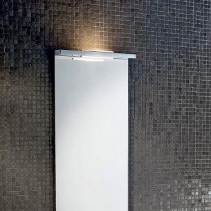 Spiegelaufsteckleuchte in Chrom - R7s 100 Watt