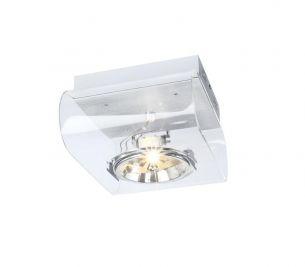 Retrosix QRB 1 klar, drehbar bis 360°, schwenkbar bis 60°, Montage als Wand- oder Deckenleuchte