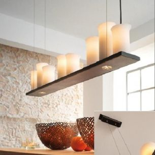 modern gestaltete 8 flammige Pendelleuchte-echte Schmiedekunst