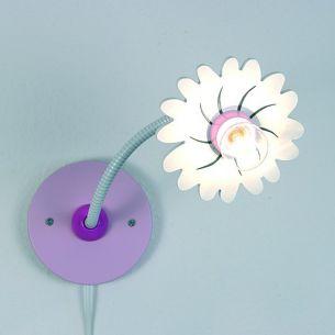 Niedliche Kinder-Wandlampe mit Flexrohr und Blüte