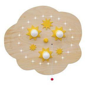 Sternen-Wolke mit LED-Sternenhimmel - Buche natur