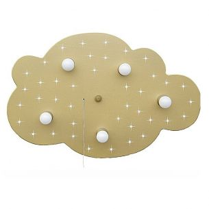 Sternen-Wolke XL in gold metallic mit LED- Sternenhimmel