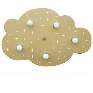 Sternen-Wolke XL  in gold-metallic mit zuschaltbarem LED- Sternenhimmel
