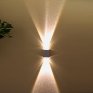 LED Außenleuchte 2 x 1 Watt, klare Glaslinsen