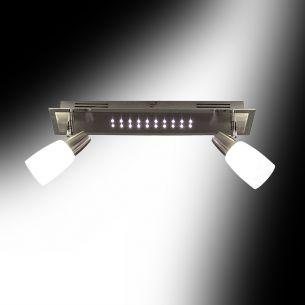 Deckenleuchte mit LEDs und Energiesparlampen