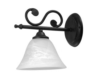 Wandleuchte Dorothea 1 flammig  mit  weißem Alabasterglas