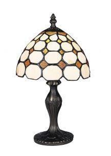 Tiffany-Tischleuchte Marvel 38cm- handgearbeitete, dekorative Lichtlösung