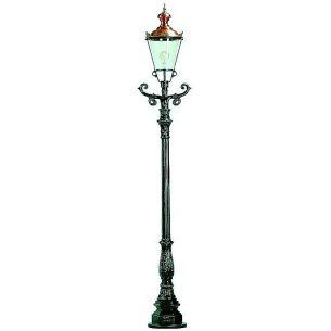 Nostalgische Laterne in höchster Qualität mit Kupferdach - dunkelgrün lackiert