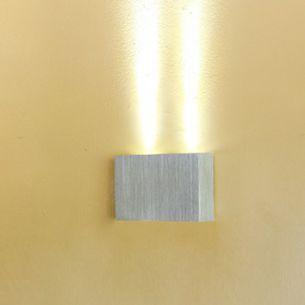 LED-Wandleuchte aus Aluminium, Up oder Down, 2 flammig