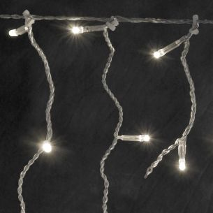 Micro LED Eisregenlichtervorhang für Außen, 200 warm weiße LEDs - Länge 4m + 10m Zuleitung