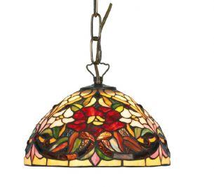 Tiffany Pendelleuchte, Durchmesser 25cm, farbenreiche Glaskunst