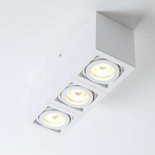 Deckenleuchte mit schwenkbaren Spots, 3 flammig, inklusive Leuchtmittel