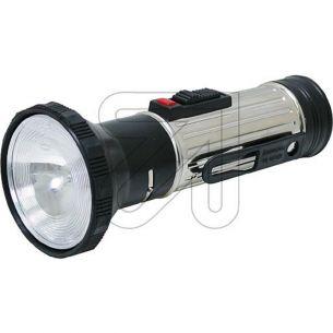 Stahlblech Taschenlampe mit Schiebeschalter, Lampe E10 inkl. Morse und Dauerlicht-Schalter für 2x Mono Batterie D
