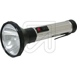 Stahlblech Taschenlampe mit Schiebeschalter, Lampe E10 inkl. Morse und Dauerlicht-Schalter für 3x Mono Batterie D