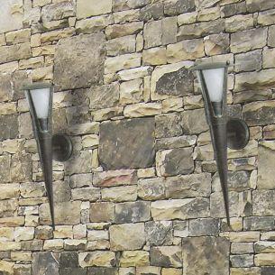 Wandleuchte Flambeau für den Außenbereich, 2 Größen