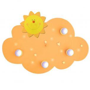 Kinderdeckenleuchte Wolke mit 10 LED-Schlummerlichtern - für den kleinen Sonnenschein