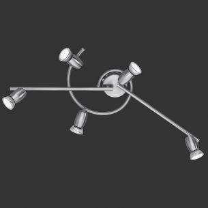 Schlichte fünfflammige LED-Schiene - modernes Design - inklusive LED-Leuchmittel