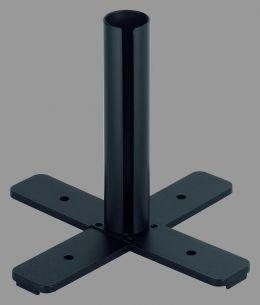 Standfuß zum Leuchtenstab - Kunststoff schwarz