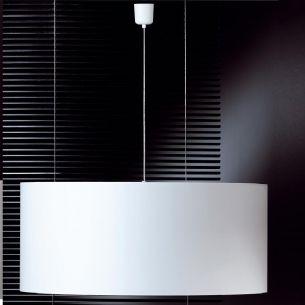 Pendelleuchte mit abwaschbaren Schirm Chintz weiß - 70 cm