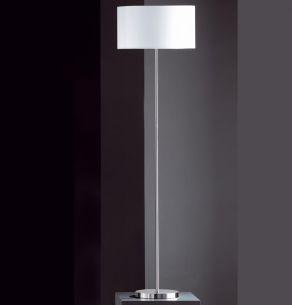Schlichte Stehleuchte mit Stoffschirm Durchmesser 40cm - Höhe 151cm