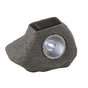 Solar-Steinleuchte mit LED-Lichttechnik