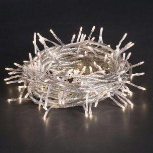 Lichterkette mit 144 klaren Birnen, Beleuchtung nicht nur zu Weihnachtszeit, Gesamtleistung  24,48 Watt
