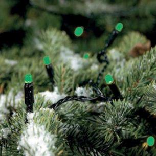 Lichterkette mit 80 grünen LEDs für den Außenbereich