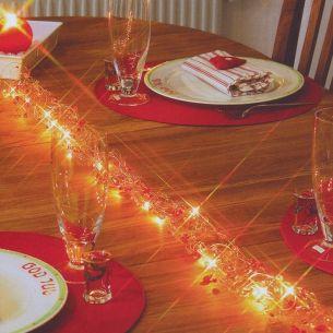 Tischdekoration Lichterkette - Girlande Pearl & Diamond - Wand-, Decken- oder Tischschmuck