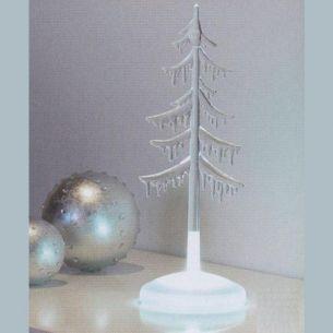LED-Weihnachtsbeleuchtung - Acrylbaum klar 3-flammig 30 cm  - schwedischer Qualitätshersteller