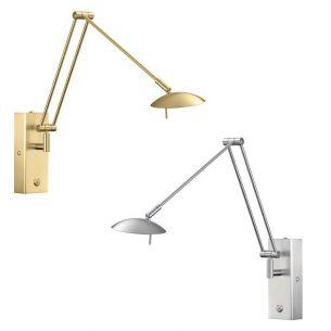 Hochwertige LED Wandleuchte - 2 Oberflächen - Nickel matt oder Messing matt - Inklusive LED