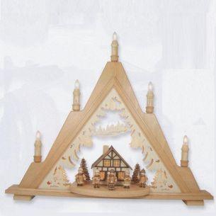 Weihnachtsbeleuchtung - Hochwertiges aus dem Erzgebirge - Holz-Leuchterturm Sternsänger