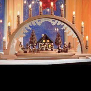 Weihnachtsbeleuchtung - Hochwertiges aus dem Erzgebirge - Schwibbogen Motiv Laternenkinder