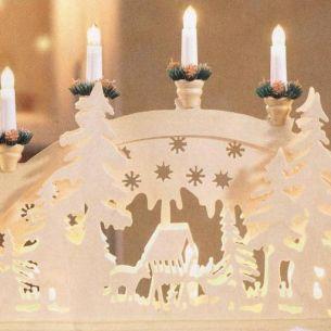 Weihnachtsbeleuchtung für Innen, Holz- Schwibbogen, Motiv Wald