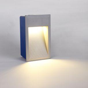 LED-Wandeinbaustrahler - Aluminium - Inklusive LED 1 x 1,8 Watt