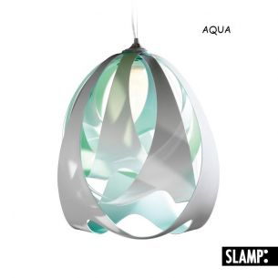 Slamp GOCCIA  DI LUCE Pendelleuchte, design by Stefano Papi - Variante AQUA blau/grün/weiß