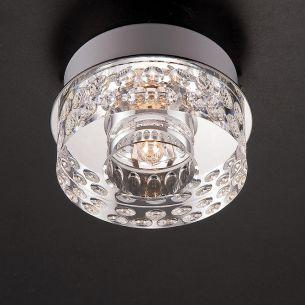 Aufbauleuchte- schwere Glasqualität, inklusive Energiesaver-Leuchtmittel