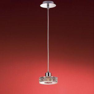 1-flammige Pendelleuchte in Chrom oder Gold - schwere Glasqualität - inklusive Energiesaver-Leuchtmittel