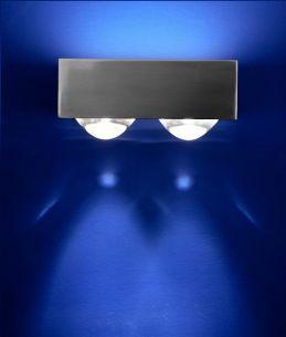 Halogen Wandleuchte Focus 150 2 x Linse/Glas - in 2 Oberflächen - Inklusive Leuchtmittel