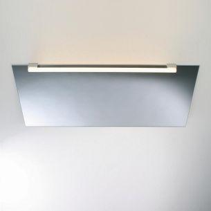 Spiegelklemmleuchte TWO SOCKET zur Spiegelmontage - Ohne Lichtröhre - in Nickel matt Nickel-matt