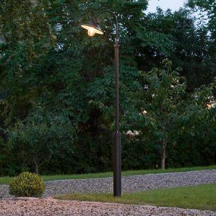 1-flammiger Mast mit klarem Glas aus Aluminium, Made in Europe