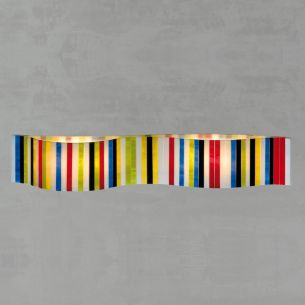 Wandleuchte VENTOPOP von Arturo Alvarez - Länge 58cm - für Halogenleuchtmittel