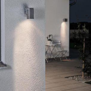 Wandstrahler aus Aluminium, Beleuchtung für den Außenbereich als downlight