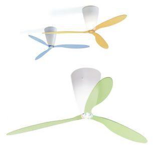 3-er Set Flügel-Set zum Ventilator BLOW von LUCEPLAN - in transparent mit Muster transparent, Struktur