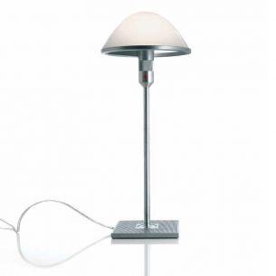 Designer Tischleuchte Mirandolina mit Fuß, Opalglas 21 cm